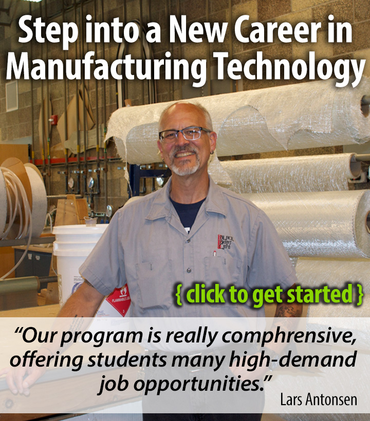 Click to learn more about getting started in Manufacturing Technology.